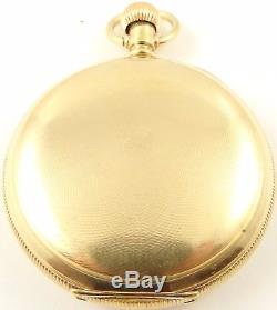 Swiss Zenith jewelled Antique RG keyless hunter pocket watch In Working Order