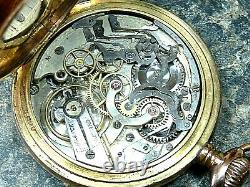 Swiss made vintage chronograph pocket watch, tachymeter scale