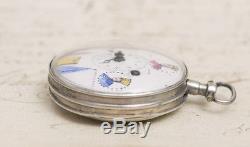 THREE EMPERORS NAPOLEON COMMEMORATIVE Verge Fusee Antique Pocket Watch