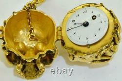 The ULTIMATE Memento Mori Skull Verge Fusee 65g solid gold pocket watch&chain