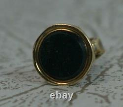 Tiny Georgian 9ct Gold Pocket Watch Fob Seal with Bloodstone t0613