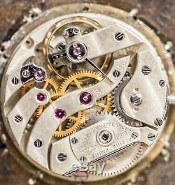 Unique Rare Antique Patek Philippe Pendant ca1900 Platinum case 88 diamonds Runs