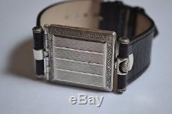 Unique Rolex square WW1 trench gents wristwatch antique 925 solid silver