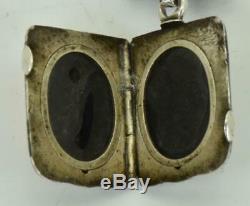 Unique antique Omega Grand-Prix Masonic silver&Niello hunter pocket watch&fob