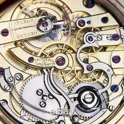 VACHERON & CONSTANTIN CHRONOGRAPH Tachymeter Scale ANTIQUE GOLD POCKET WATCH