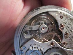 VINTAGE ILLINOIS BUNN SPECIAL estate sale old pocket watch antique pocket watch