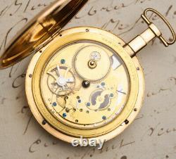 VIRGULE Escapement REPEATER Antique 18k Gold Pocket Watch by Dubois et Fils