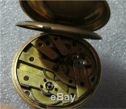 Vacheron & Constantin Antique 18K Gold Pocket Watch Key Wind Working Geneve