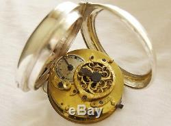 Very nice antique Silver French Verge Fusee pocket watch ca 1800