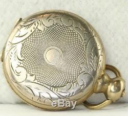 Victorian 1860's Antique Gold Filled Pocket Watch Locket