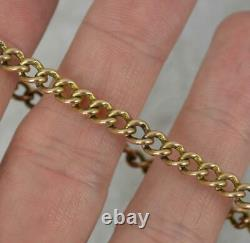 Victorian 9ct Gold Curb Link Pocket Watch Chain 7 Long Bracelet
