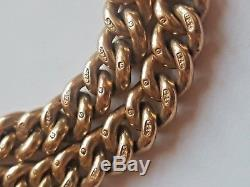 Victorian Antique 9ct Gold Double Albert Pocket Watch Chain C. 1890 #268