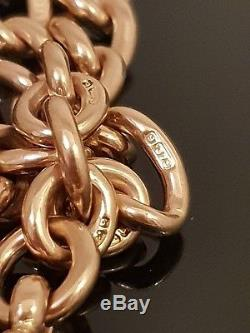 Victorian Antique 9ct Gold Double Clip Pocket Watch Albert Chain C. 1890 #268