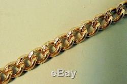 Victorian Style 9k Rose Gold Pocket Watch Albert Chain Sheffield 1990 37.2 G