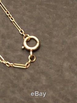 Vintage Antique 14k Gold Link Pocket Watch Fob Chain