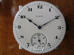 Vintage Antique Elgin 16s 17 jewels pocket watch serviced