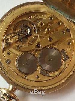 Vintage Antique IWC Schaffhausen 14k Gold Pocket Watch Naser al-Din Shah Qajar