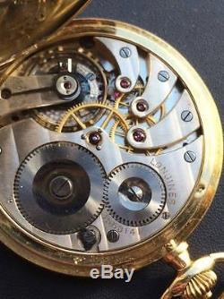 Vintage Antique Longines Memento Mori Skull Doctors 18k Rose Gold Pocket Watch