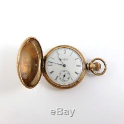 Vintage Antique Springfield Illinois Gold Fillled 1887 7j 6s Pocket Watch QXK3