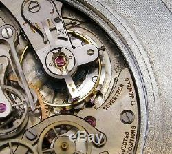 Vintage & Huge HEUER pocket chronograph, split, 1/10 second, racing, excellent