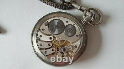 Vintage WW2 German Military Pocket Watch Uhrenfabrik Buren AG A. Lunser Berlin