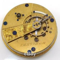 Vtg Antique 1857 18s 11j Waltham Coin Silver Wm Ellery Pocket Watch QZG5