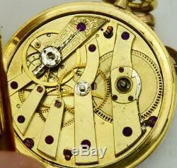 WOW! One of a kind antique LeRoy, Paris 18k gold&enamel watch for Ottoman maket