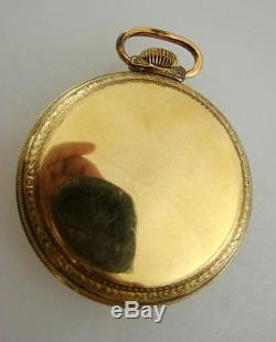 Waltham 21 Jewel Cresent Street Up / Down Indicator Antique Pocket Watch ca 1915