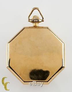 Waltham Octogon 14K Yellow Gold Antique Open Face Pocket Watch Gr 235 12S 17J