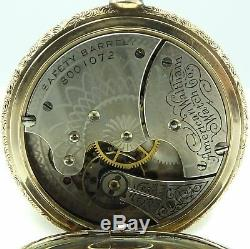 Waltham USA Antique 14ct solid gold keyless wind fob watch In Good Working Order