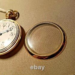 Waltham Vanguard 16s 23J adj Wind Indicator 1913 pocket watch Works Ex Cond RR