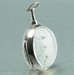 William Tarleton Early deck watch with Stop second and date 1794 Silver b-uhr