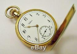 Working Antique Gold Plate Waltham Fob Pocket Watch Edwardian 630 Grade 1906