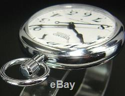 Working Seiko Precision Second Setting Vintage 50mm Hand-Winding Pocket Watch